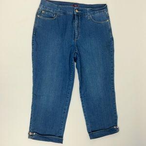 NYDJ Jeans Size 10 Crop Embellished High Waist